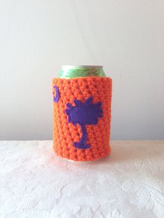 South Carolina Palmetto Tree and Moon Crochet Beer Cozy, Bottle Cozy, Coffee Cup Cozy by Maroozi Sc Crochet, Crochet Cozy, Clemson South Carolina, Disposable Coffee Cups, Palmetto Tree, Fun Conversation Starters, Coffee Cup Cozy, State Outline, Mild Soap