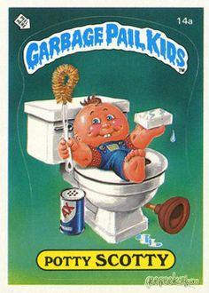 Potty Scotty. Garbage Pail Kids Series 1.