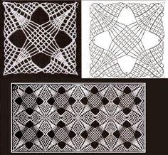 Crochet Motif Patterns, Crochet Diagram, Crochet Squares, Crochet Granny, Irish Crochet, Crochet Shawl, Crochet Stitches, Crochet Tablecloth, Crochet Doilies