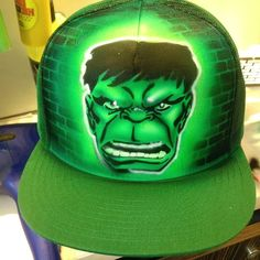 Incredible Hulk - Airbrushed Hat #Anvil #Personalized