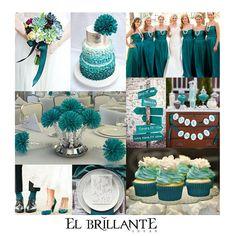ElBrillanteIdeas El turquesa llama la atención por ser un color muy original en las bodas
