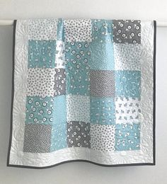 Your place to buy and sell all things handmade Baby Boy Quilt Patterns, Baby Patchwork Quilt, Grey Quilt, Baby Girl Quilts, Girls Quilts, Whole Cloth Quilts, Keepsake Quilting, Handmade Baby Quilts, Quilt Batting