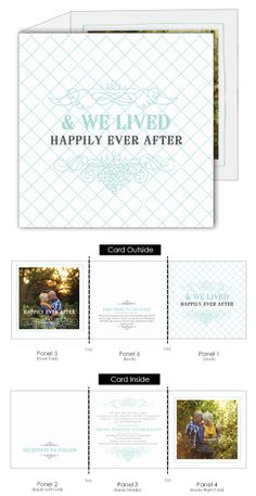 The Vintage Flourish is a whimsical photo wedding Invitation in a unique tri-fold format.