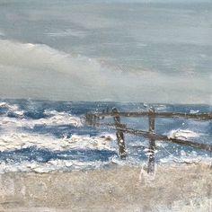 Bild Strand Meer#16,Leinwand klein,20x20x1,5 cm,Malerei,Ostsee,Wellen…
