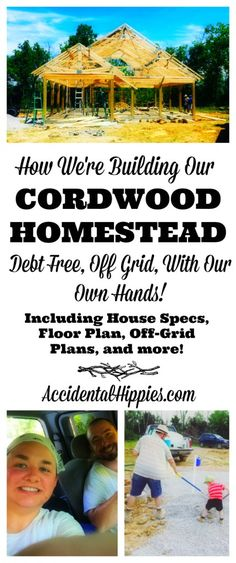 Build naturally and gain financial freedom! Check out how this family of three is building a cordwood home off of the water and electrical grid, all by hand and without going into debt! #offgrid #homesteading #cordwood