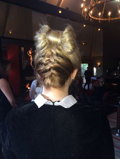French plait with bow #hairup www.lkhair.com