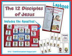 Disciples posters, lapbook, file folder game and more. Religion Activities, Church Activities, Bible Study For Kids, Bible Lessons For Kids, Sunday School Lessons, Sunday School Crafts, Bible Games, File Folder Games, Jesus