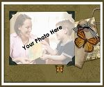 Antique Butterfly Photo Throw