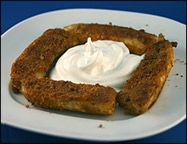 3 Points WW --Sweet Fried Bananas with Cream Cheese Frosting....  Crunchy, Sweet Bananaliciousness!