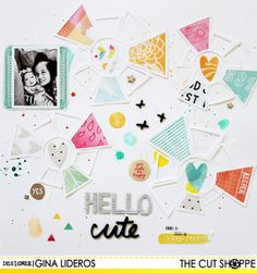 #papercraft #scrapbook #layout  Hello Cute by myfrogprince at @studio_calico