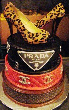 Louis Vuitton, Prada, & Chanel Birthday Cake!
