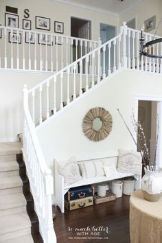 White painted stairc