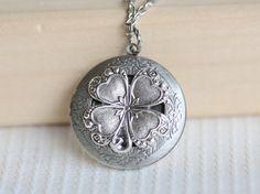 Hey, I found this really awesome Etsy listing at https://www.etsy.com/listing/153951542/irish-shamrock-silver-locketlocketfour