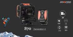 FREIGHT FREE - SOOCOO S70 Action Camera 2K@30fps 1080p@60fps 60M Waterproof Build-in WIFI with Watch Remote  Control !
