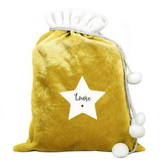 Personalised Luxury Gold Christmas Sack - Star Christmas Star, Christmas Gifts For Kids, Gold Christmas, Family Christmas, Hen Party Gifts, Bridesmaid Clutches, Bachelorette Gifts, Personalized Bridesmaid Gifts, Used Vinyl