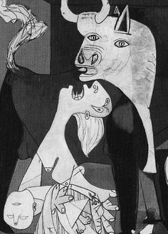 Image of a Wailing Mother from Picasso's Guernica