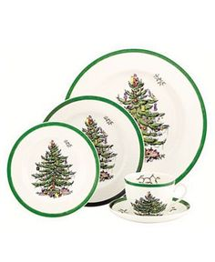 "Spode ""Christmas Tree"" dinnerware~a friend's Christmas china pattern"