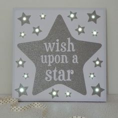 'Wish' LED Canvas And Night Light - art & pictures