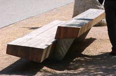 Trapecio Bench designed by Antonio Montes and Montse Periel #Santa