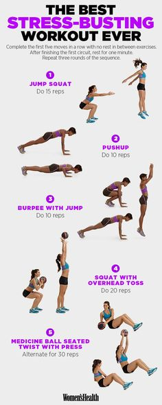 Jump Squat  http://www.womenshealthmag.com/fitness/stress-reducing-workout?_ga=1.68743000.836460324.1476259813