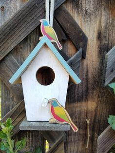 Painted Bunting Earrings by bluesparrowtrinkets on Etsy
