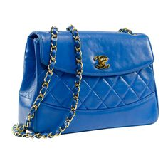 Shop our selection of vintage bags from the world's best fashion stores. Vintage Bags, Vintage Handbags, Vintage Chanel, Handbag Accessories, Fashion Accessories, Yves Klein Blue, Royal Blue, Cool Style, Shoulder Bag
