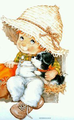Menino e cachorro, own <3