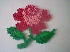 Pink rose hama beads by MiikadOww