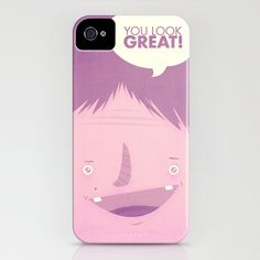 You Look Great!  iPhone Case by Pope Saint Victor - $35.00