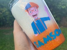Excited to share this item from my shop: Custom Blippi Cup WIth STraw 2nd Birthday Party Themes, Birthday Cup, Fourth Birthday, Birthday Ideas, Bf Gifts, Party Gifts, Kids Tumblr, Tumbler Designs, Diy Halloween Decorations