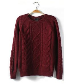The sweater featuring braided detail. Round neck. Long sleeve. Ribbed trim. Unlined.the perfect accessory when you are adding skinny jeans to finish.   Women sweaters are going strong this season, you'll be sure to channel the 2013 trends.  Material: knit fabric Washing: Wash according to inst...