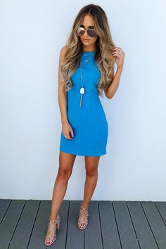 Share to save 10% on your order instantly! Go With The Bow Dress: Cerulean