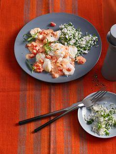 Fischfilet in Tomaten-Estragon-Sauce