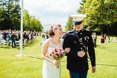 Stunning New Hampshire wedding on the lake. Reception to follow at Wolfeboro Inn. www.mikhailglabets.com