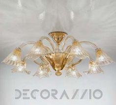 #lighting #lightingdesign #ceilinglamp #interior #design #designidea #home Светильник  потолочный накладной Sylcom Soffio, 1480/8CR.ORO