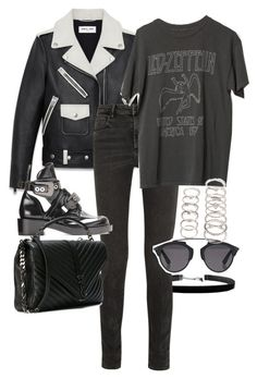 """""""Untitled #11207"""" by minimalmanhattan ❤ liked on Polyvore featuring Alexander Wang, Yves Saint Laurent, Christian Dior and Forever 21"""