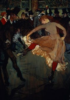 Henri de Toulouse-Lautrec: The Dance at the Moulin Rouge  detail showing Valentin Desosse (1889)