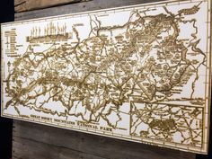 The piece features a map of the Great Smoky Mountain National Park originally drafted by Reixach, A. J. of the National Park Service in 1940.