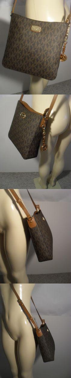 6b195b64892e Handbags and Purses 63852: Nwt Michael Kors Brown Pvc Travel Messenger  Crossbody Shoulder Bag Mk