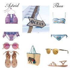 """""""Ocean"""" by floriane97 ❤ liked on Polyvore featuring IPANEMA, Le Specs, Dolce&Gabbana, Ancient Greek Sandals and Oliver Peoples"""