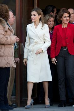 "Spanish Princess Letizia arrives at the 16th ""Volunteer State Congress"" at the Baluarte Palace on 27.11.13 in Pamplona, Spain."