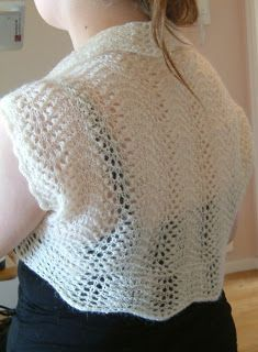 Lace and wool: Feather and fan shrug