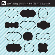 Vintage Frames Photoshop Brush Set by xoDigitalArt on Etsy