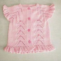 Knitting Baby Vests All Beautiful From Each Other 20 Pieces - Crochet Baby Girl Vest, Baby Dress, Baby Baby, Easy Knitting Patterns, Knitting Designs, Baby Sweaters, Girls Sweaters, Crochet For Kids, Crochet Baby
