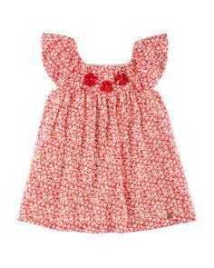 c02949173b34d PILI CARRERA SPECKLED-PRINT EYELET DRESS, RED, SIZE 4-10.  pilicarrera   cloth