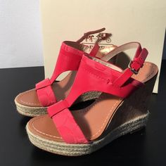 Coach Mendez Melon Wedges Coach Mendez Melon Wedges - size 7.  Only worn a couple of times. Coach Shoes Wedges