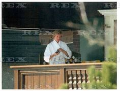 Update: I think another: August 1993: Princess Diana drinking her morning coffee in Walt Disney World in Florida.