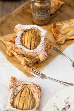 Salted Caramel Pear Tarts - lightly sweet dessert...nice completion to an appetizer party - Christmas!