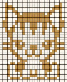 Kandi Patterns for Kandi Cuffs - Animals Pony Bead Patterns Pony Bead Patterns, Kandi Patterns, Alpha Patterns, Beading Patterns, Crochet Cat Pattern, Crochet Chart, Crochet Patterns, Xmas Cross Stitch, Cross Stitching