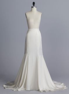 Della Giovanna Devin Skirt- Off-White Silk Double Face Satin Mermaid Skirt with Train. Bridal Separates. Wedding Gown
